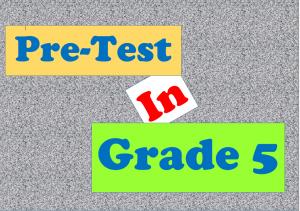 Grade 5 Pre-Test – Guro Ako