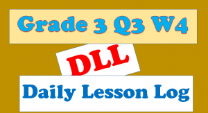 grade 3 quarter 3 week 4 daily lesson log
